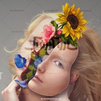 آموزش ساخت افکت گل در فتوشاپ