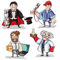 دانلود رایگان وکتور کاراکترهای شغلی مختلف 1