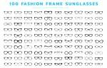 دانلود رایگان وکتور فریم 100 عینک افتابی-1