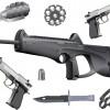 دانلود رایگان مجموعه وکتورهای اسلحه Guns Vector-1