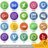 دانلود آیکون های فلت شبکه های اجتماعی