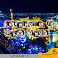 دانلود رایگان فونت زیبا و انگلیسی Vegas Nights