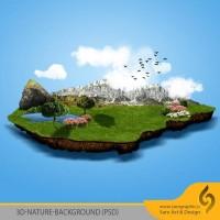 دانلود رایگان بک گراند سه بعدی طبیعت با کیفیت بالا