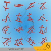 دانلود رایگان فونت ورزش های المپیک زمستانی