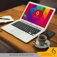 دانلود رایگان لایه باز موکاپ MacBook Air