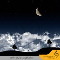دانلود لایه باز پوستر آسمان شب تاریک Dark Night Clouds
