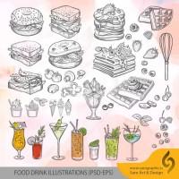 دانلود رایگان وکتور مواد غذایی و فست فود