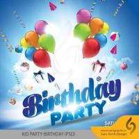 دانلود لایه باز پوستر مهمانی و تولد Kid Party Birthday