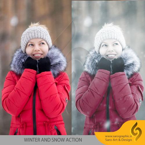 دانلود رایگان اکشن فتوشاپ ساخت تصاویر زمستانی با افکت برف