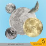 دانلود مجموعه تصاویر ماه با فرمت PNG