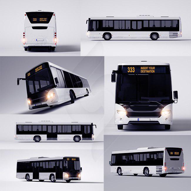 دانلود رایگان مجموعه موکاپ تبلیغات روی اتوبوس