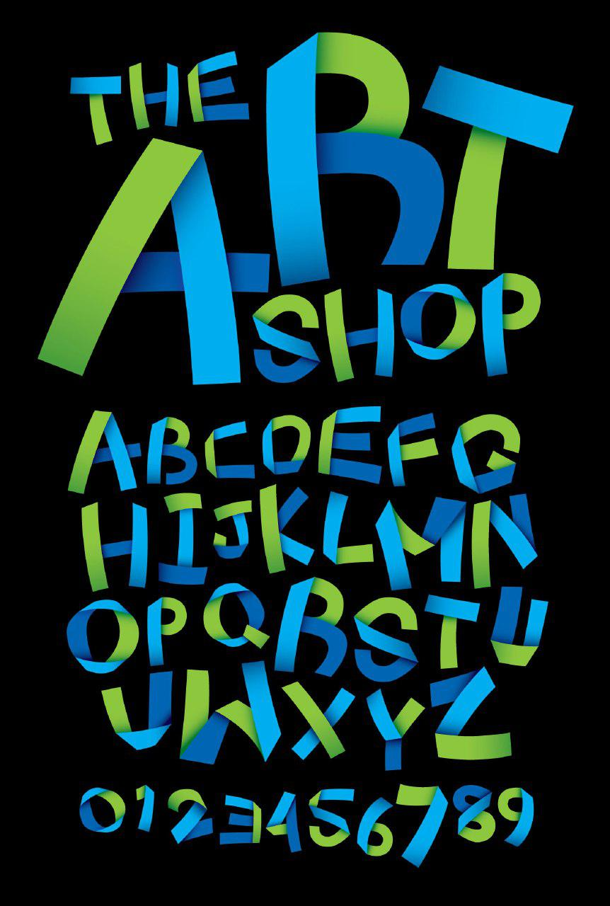 دانلود مجموعه حروف و اعداد اوریگامی انگلیسی