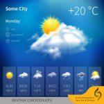 دانلود رایگان فایل لایه باز وضعیت آب و هوا