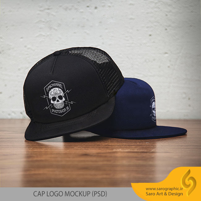 دانلود رایگان موکاپ لوگوی روی کلاه CAP