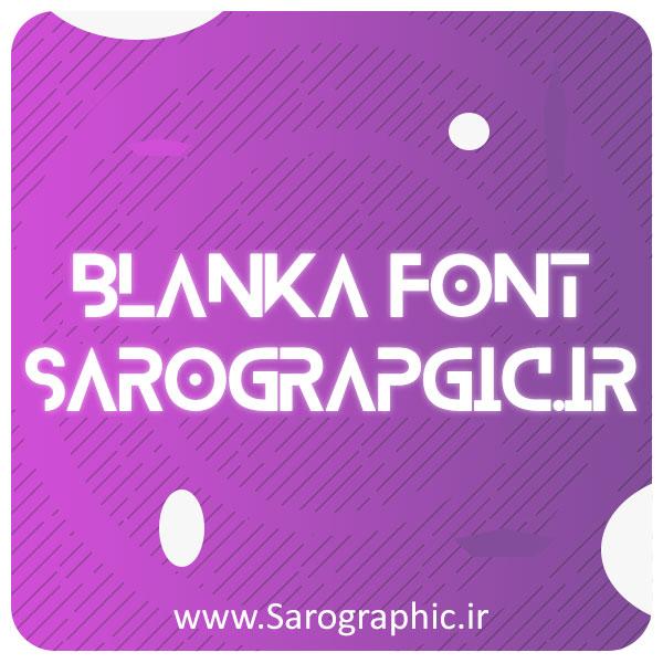 دانلود رایگان فونت طراحی انگلیسی Blanka